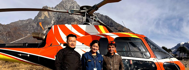 Everest view helicopter