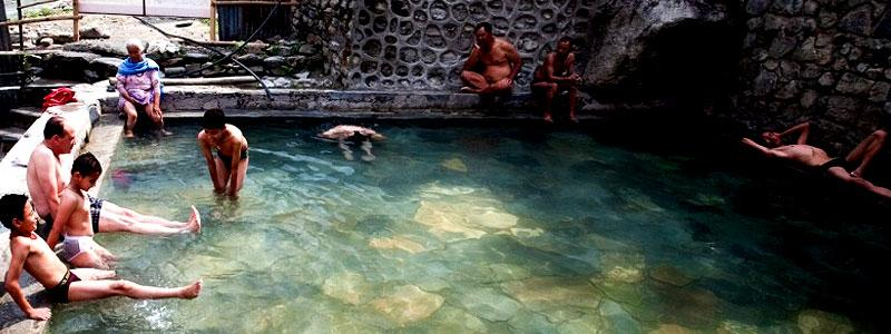 Natural Hot spring in Annapurna