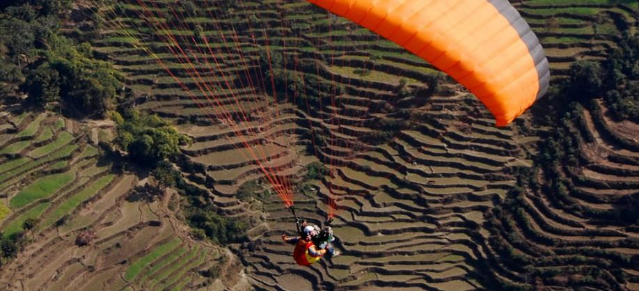 Paragliding tour in Pokhara