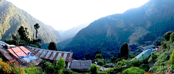 Chhomrong Village in Short Annapurna Base Camp Trek