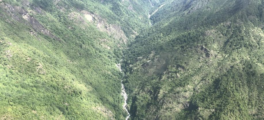Manaslu Helicopter tour view
